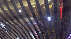 ticket hall,the decoration of the cinema,chinese film industry fancy bubble  - stock footage