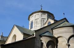 The Armenian Cathedral of the Assumption of the Most Holy of God - stock photo