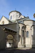 The Armenian Cathedral of the Assumption of the Most Holy of God, entrance - stock photo