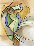 Abstract art design - stock illustration