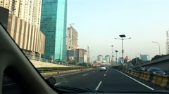EDITORIAL - Driving car through Jakarta city highway Stock Footage