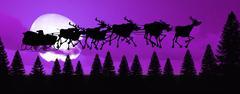 Merry Christmas & Santa Stock Illustration
