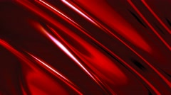 Silky smooth abstract form red background Stock Footage