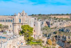 Church of St. Agostino. Matera in Italy UNESCO European Capital of Culture 20 - stock photo