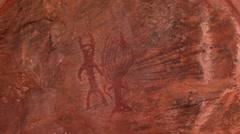 Calvert Range cave painting 1 Stock Footage
