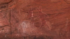 Calvert Range cave painting 2 Stock Footage