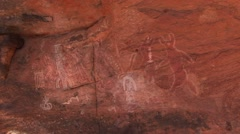 Calvert Range cave painting 3 Stock Footage