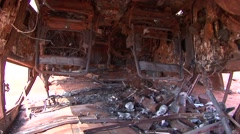 Carwreck in the outback 3 Stock Footage