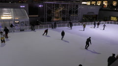Rockefeller Center ice skating Stock Footage
