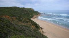 Australia Great Ocean Road Glenaire Beach Stock Footage