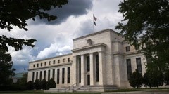 federal reserve building washington - stock footage