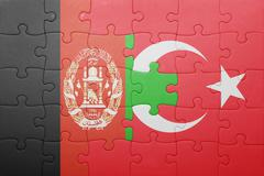 Stock Illustration of puzzle with the national flag of turkey and  afghanistan
