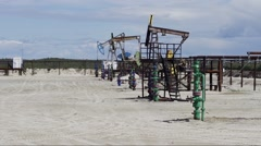 Pumpjack - medium shot Stock Footage