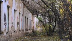 The bushes near abandoned soldiers ' canteen - stock footage