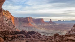 False Kiva Canyonlands National Park Island in the Sky District - stock footage