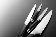 Set of kitchen knives Stock Photos