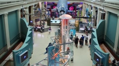 Marine hall in National Museum of Natural History Stock Footage