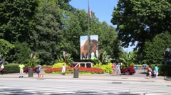 Entrance of Smithsonian National Zoo in Washington, United States Stock Footage