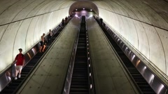 Subway escalator. Daily ridership is 520000 people Stock Footage