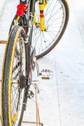 Mountain bike on marble ground Stock Photos