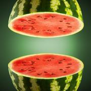 Watermelon cross sections Stock Illustration