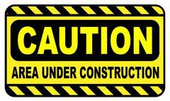 Caution Area Under Construction - stock illustration
