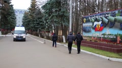 Territory of police in North-East district of Moscow. Stock Footage