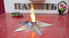 Eternal Flame - monument to fallen soldiers and enforcement personnel. Text: Stock Footage
