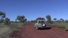 Jeep drive through outback 1 Stock Footage