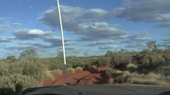 Jeep drive through outback 16 Stock Footage