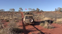Jeep drive through outback 7 Stock Footage
