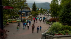 whistler village tilt shift efx time lapse vancouver BC - stock footage