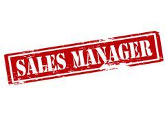 Sales manager - stock illustration