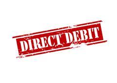 Direct debit - stock illustration