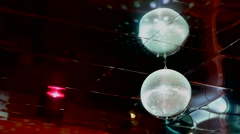 mirrored discoball disco ball light flashes - stock footage