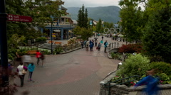 Whistler village time lapse vancouver BC Stock Footage