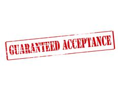 Guaranteed acceptance Stock Illustration