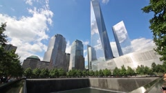 Memorial of people killed in terrorist attacks on September 11, 2001 Stock Footage