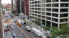 Traffic on street. In 2014, New York attended 56.4 millions of visitors - stock footage