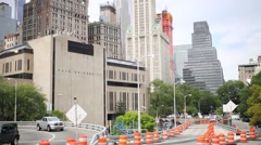 Pace University among skyscrapers In New York City Stock Footage