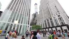 Modern Apple store in New York City, USA. Stock Footage