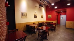 Cafe with interior style of 30th in Washington, USA. Stock Footage