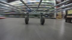 Supermarket trolley - stock footage