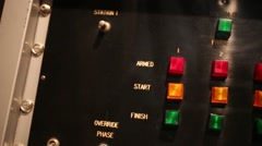 Multi-colored buttons for controlling electrical device Stock Footage