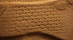 Footprint in Museum of mafia in Washington, USA. Stock Footage