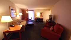 Room in Embassy Suites Philadelphia hotel in Philadelphia. Stock Footage