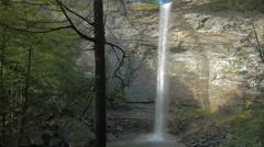 Ozone Falls Establishing Waterfall Tennessee - stock footage