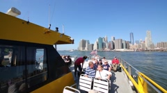 People on ship. In 2014 in NY tourism brought economy 61.3 billion dollars Stock Footage
