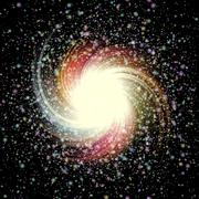 Cosmic vortex - stock illustration
