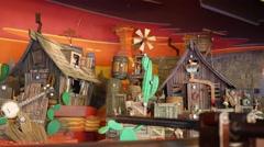 Shooting gallery in Frontierland of Disneyland in Paris, France. Stock Footage